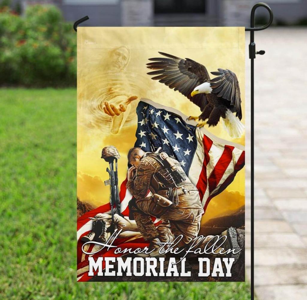 Honor the fallen memorial day flag 1