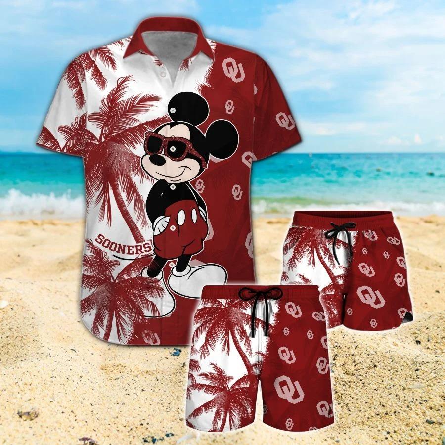 Mickey Mouse Oklahoma Sooners hawaiian shirt and beach short