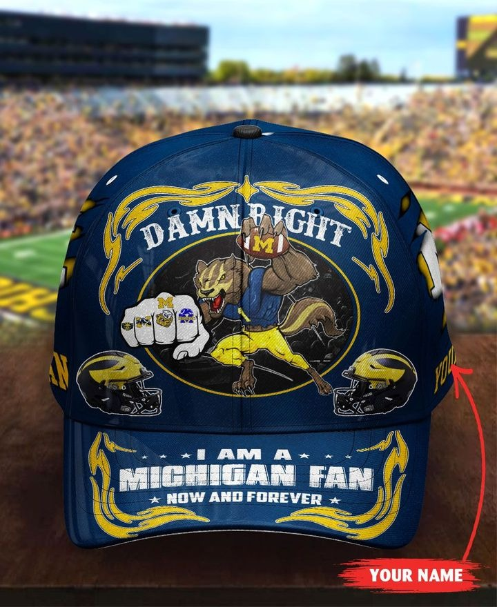 Miwo Damn right I am a Michigan fan now and forever custom cap