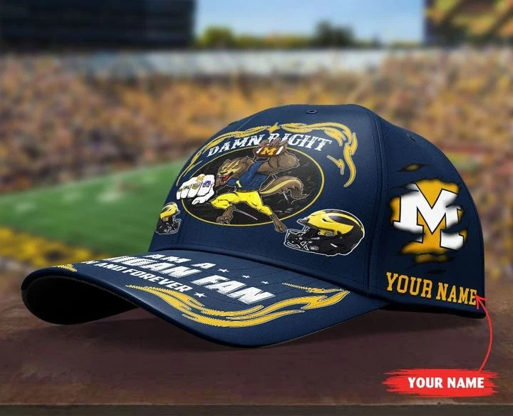 Miwo Damn right I am a Michigan fan now and forever custom cap4
