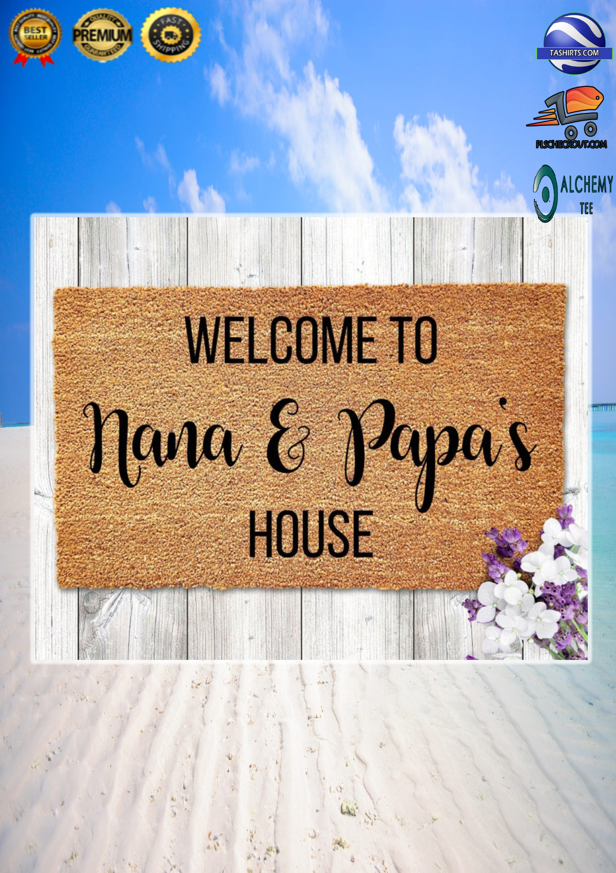 Personalized Customized Welcome to house doormat 1