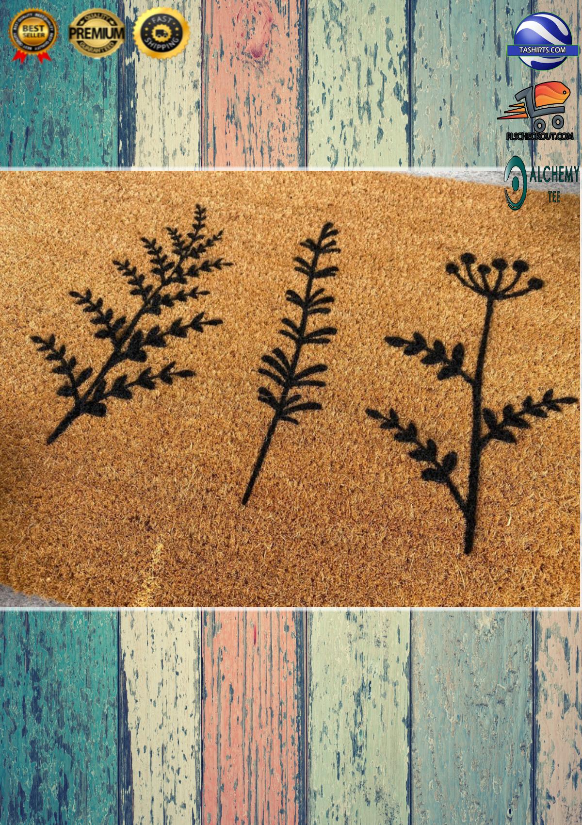 Plant Floral Trio Coir Doormat 2