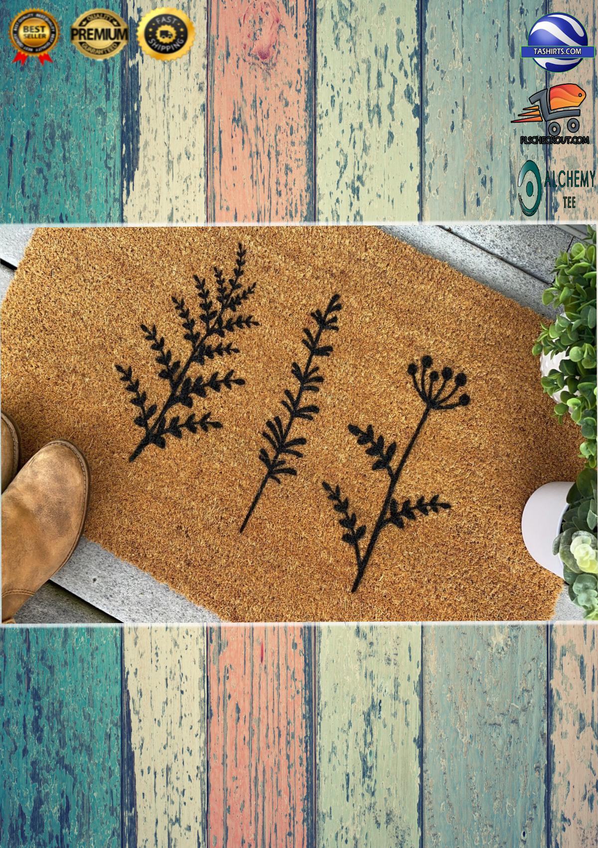 Plant Floral Trio Coir Doormat 3