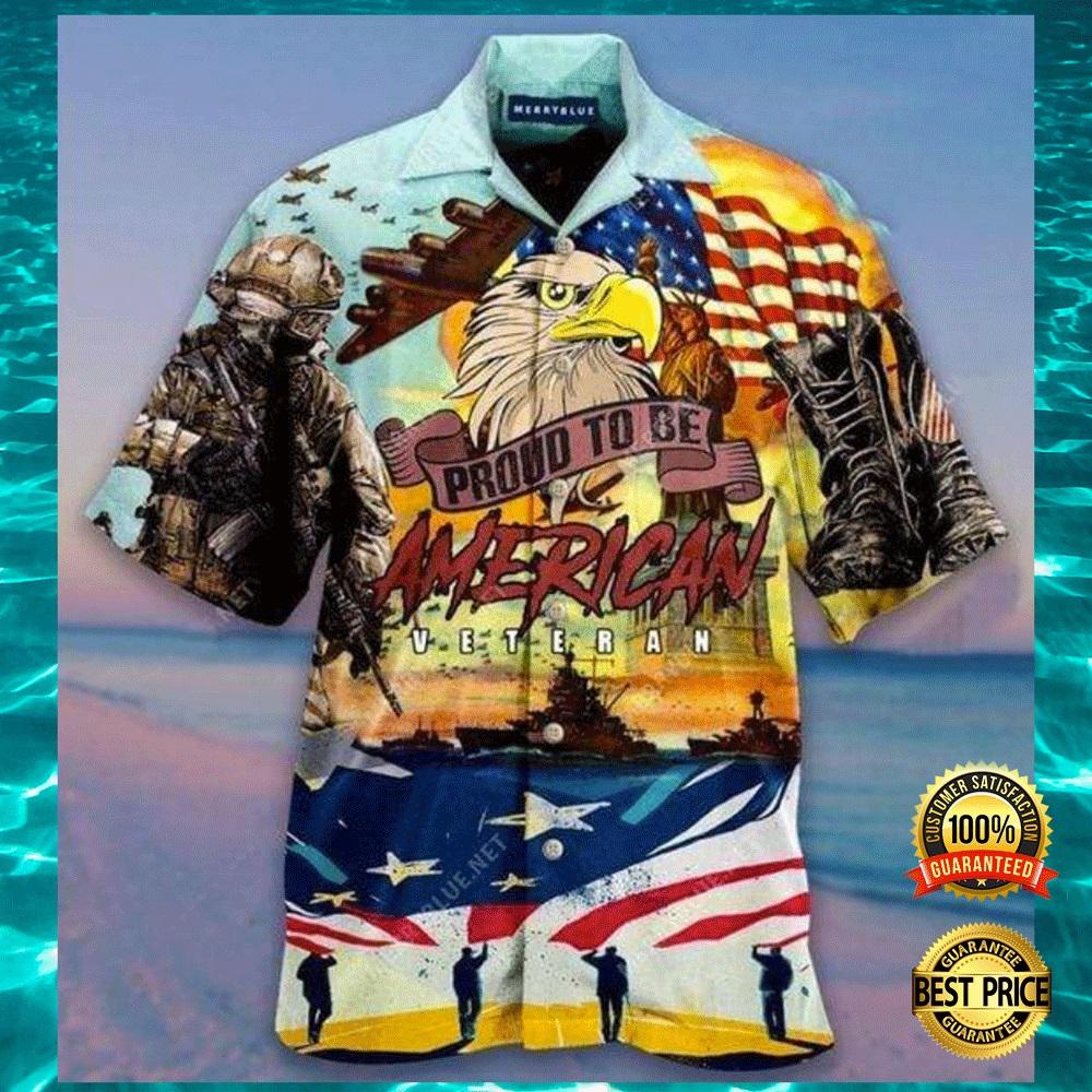 Proud to be American veteran hawaiian shirt2