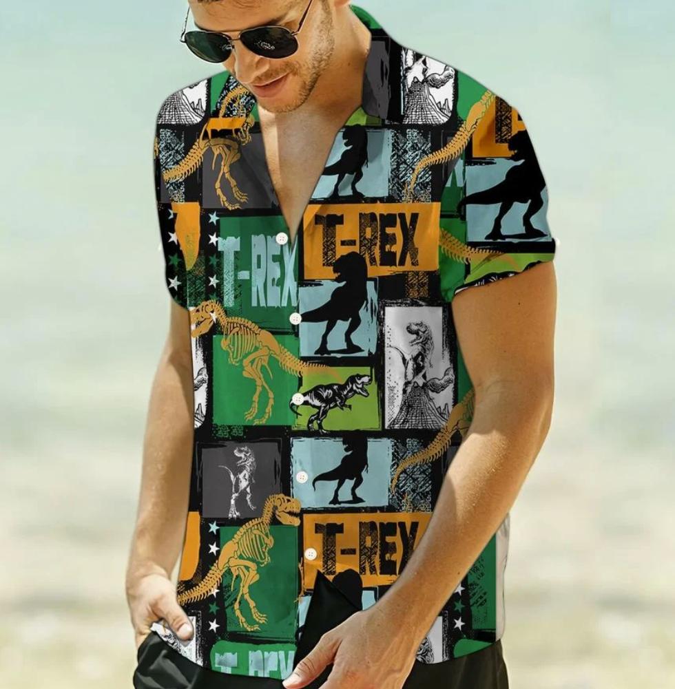 T rex hawaiian shirt 1
