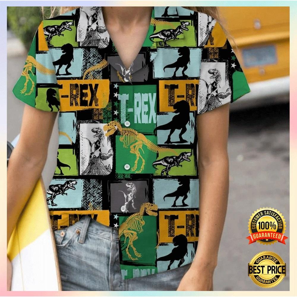T rex hawaiian shirt1