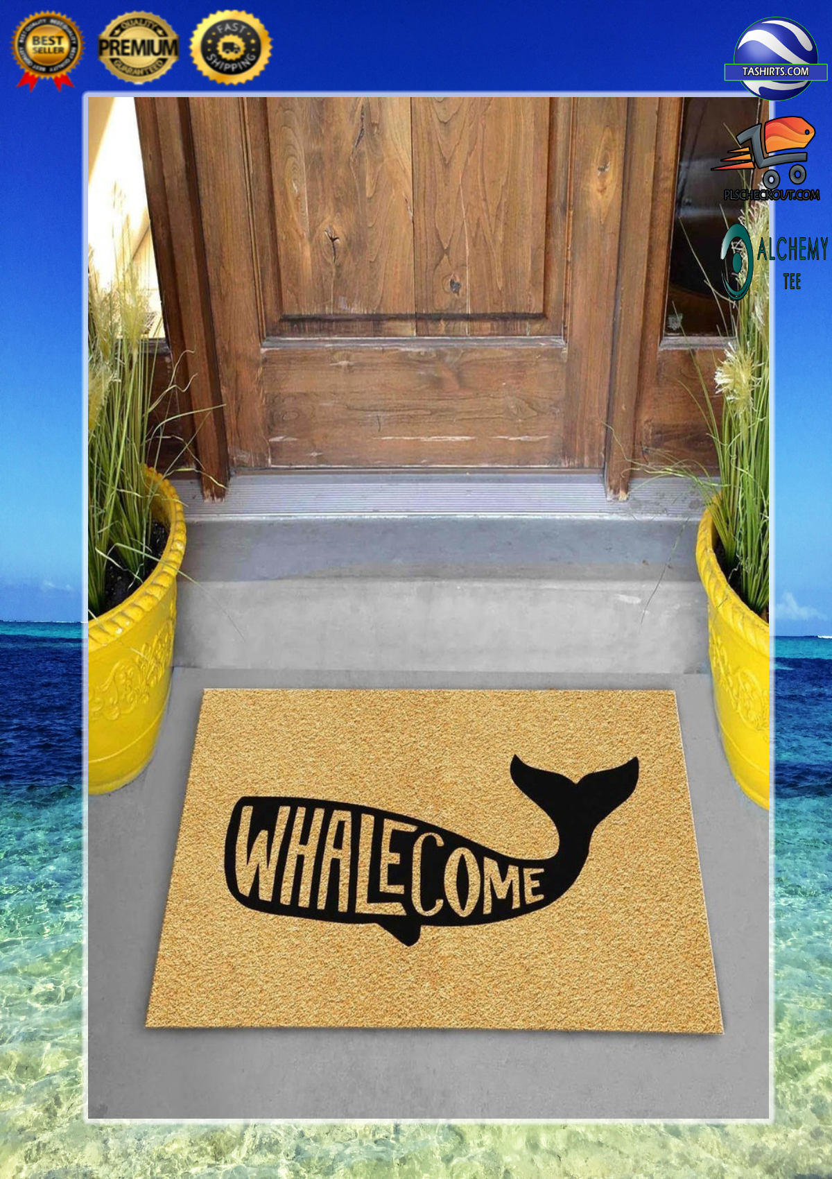Whalecome whale doormat 1