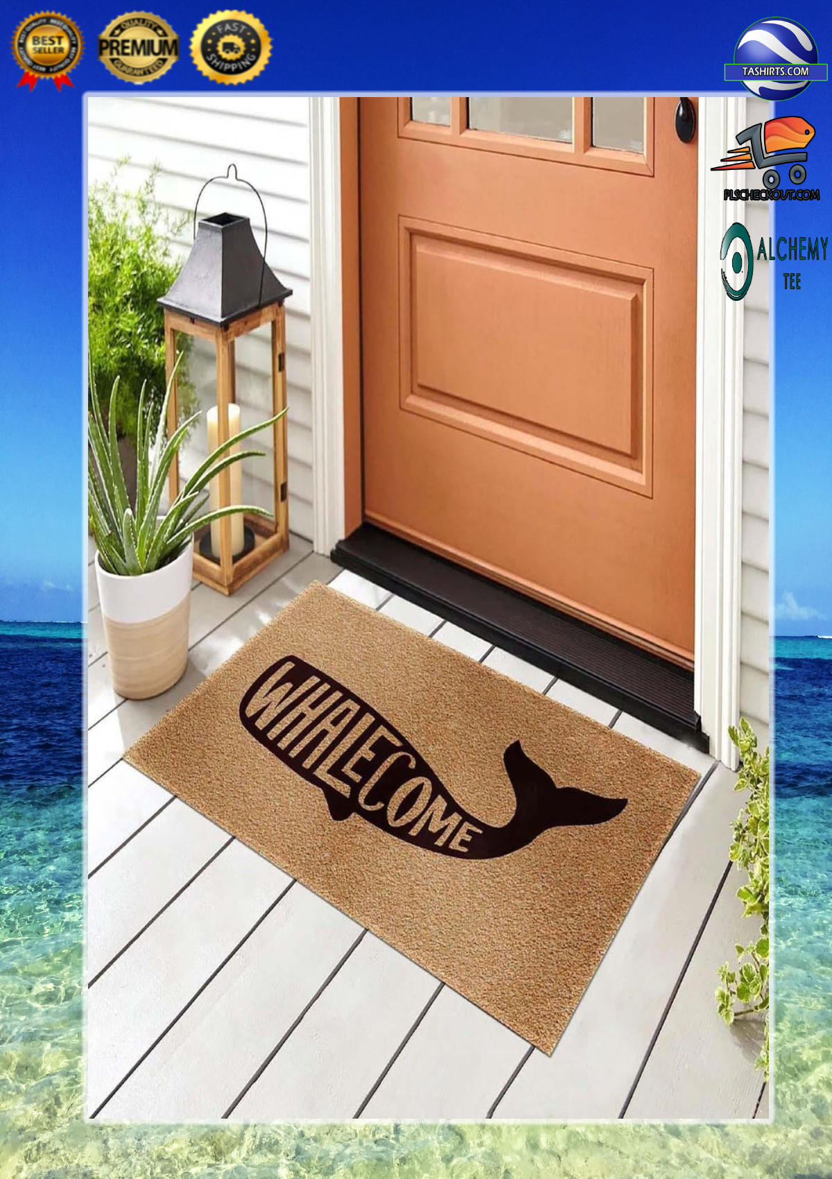 Whalecome whale doormat 2