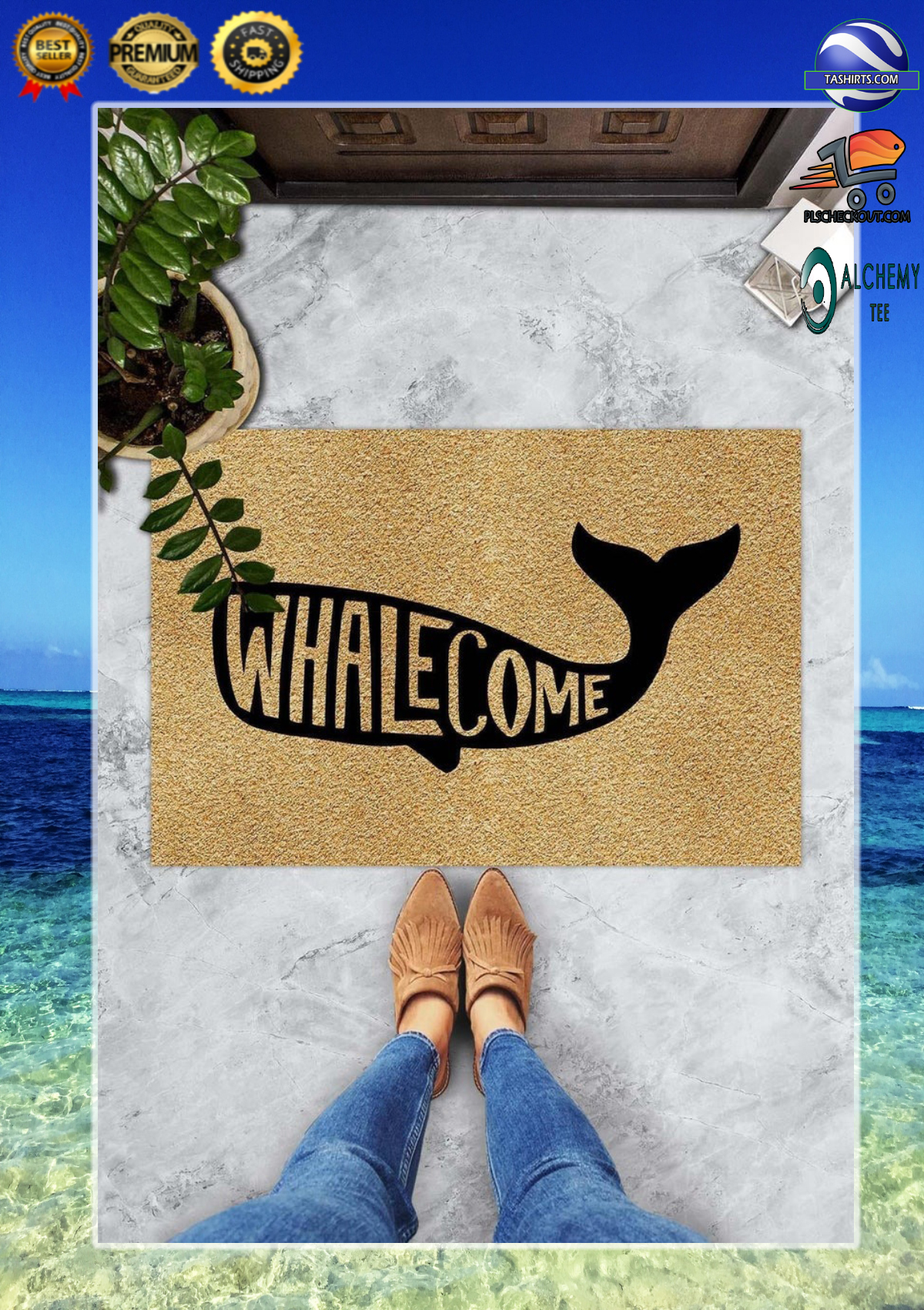 Whalecome whale doormat 3