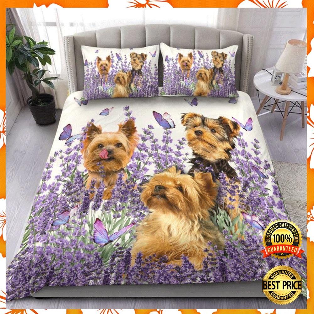 Yorkshire terrier and flower bedding set2