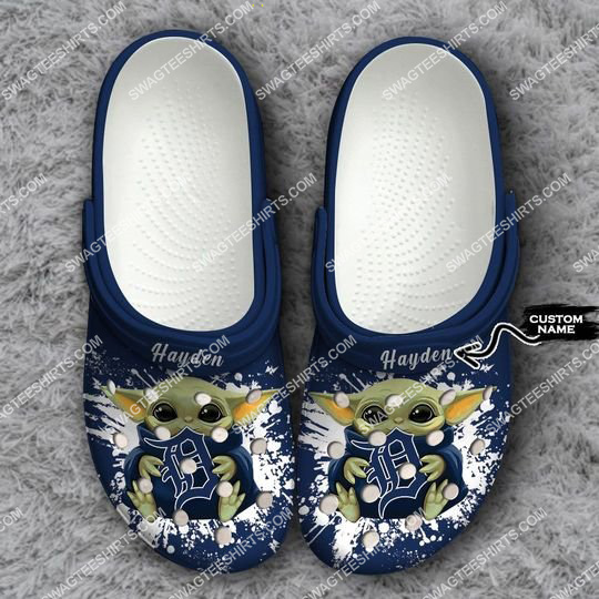 custom baby yoda hold detroit tigers all over printed crocs 1 Copy1