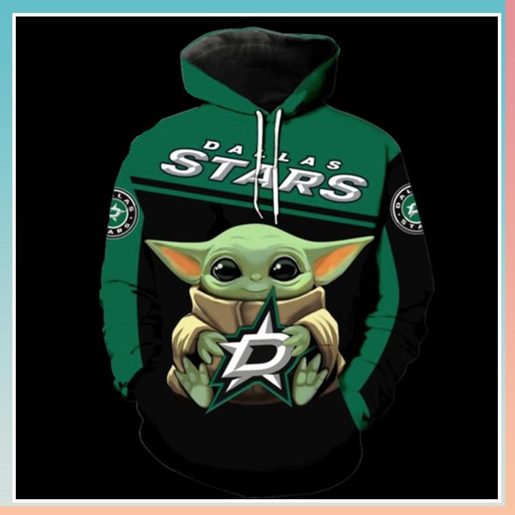 Dallas Cowboys stars baby yoda 3d over print hoodie
