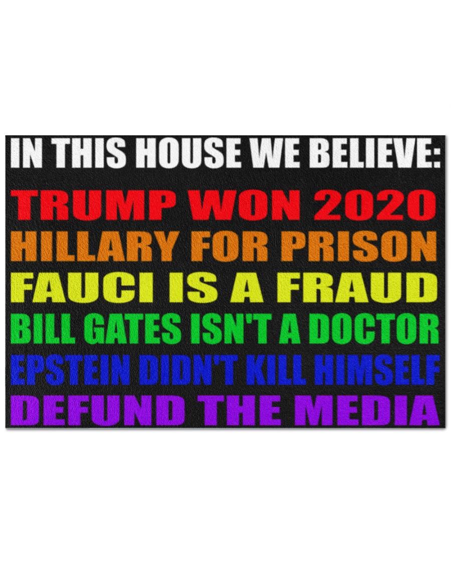 13 LGBT In this house we believe Trump won 2020 Doormat 1