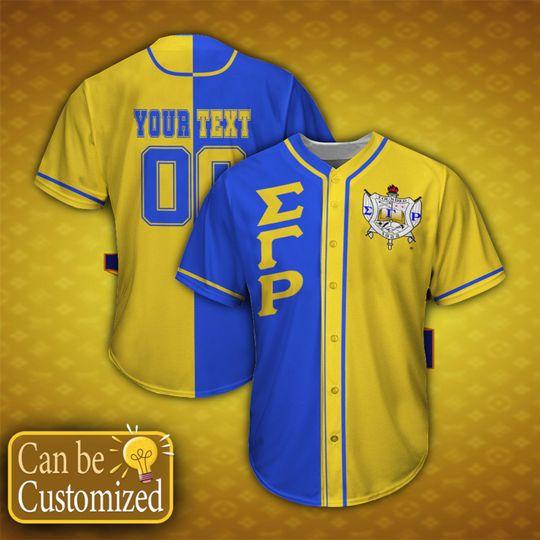 14 Sigma Gamma Rho Personalized custom name Baseball Jersey shirt 1