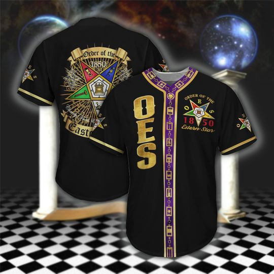 20 Order of the Eastern Star OES Baseball Jersey shirt 1