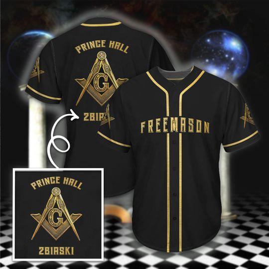 22 Prince Hall Free Mason Baseball Jersey shirt 1