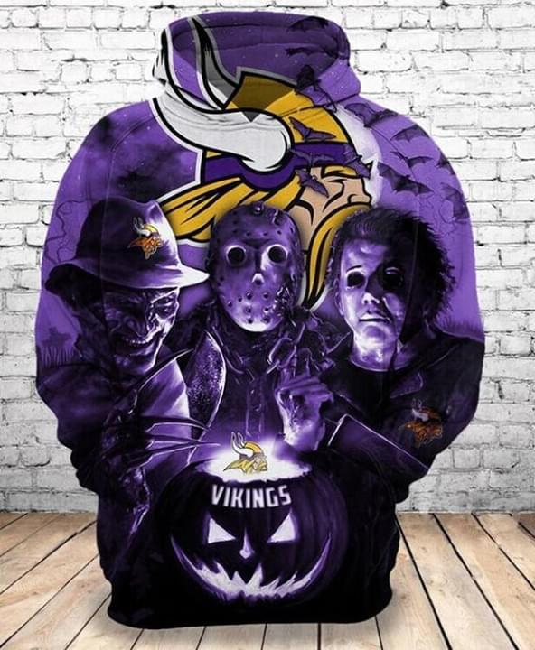 30 Horror Movies Minnesota Vikings all over print 3d hoodie 1
