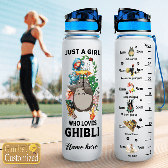 4 Just a girl who loves Ghibli water tracker bottle 1