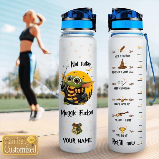 6 Baby Yoda Not Today Muggle water tracker bottle 1
