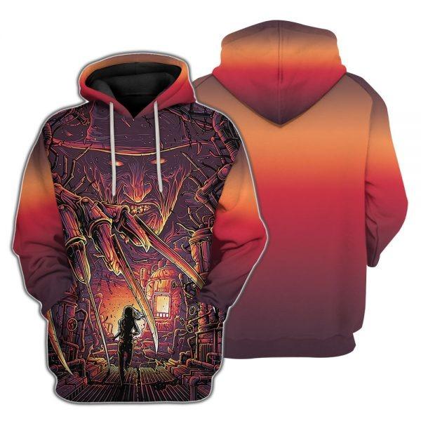 A Nightmare On Elm Street Freddy Krueger 3d hoodie