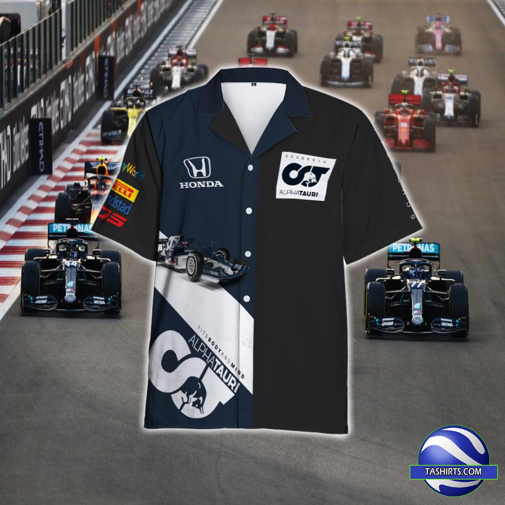 AlphaTauri Racing F1 Hawaiian Shirt