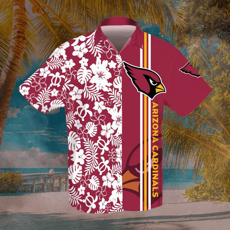 Arizona Cardinals Hawaiian Shirt Football Team Beach Shirt