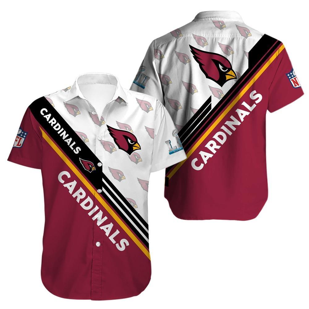 Arizona Cardinals Pattern Hawaiian Shirt