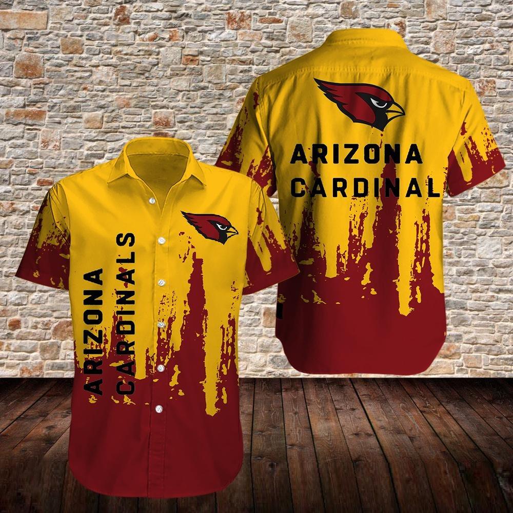 Arizona Cardinals Yellow And Red Hawaiian Shirt