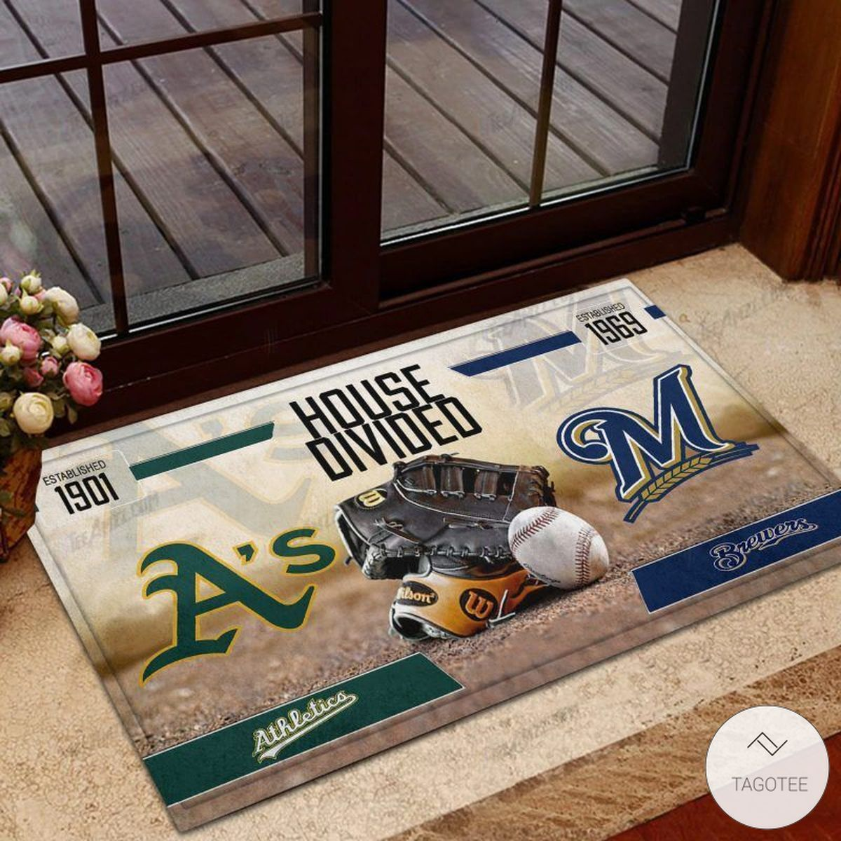 Athletics House Divided Brewers Doormat