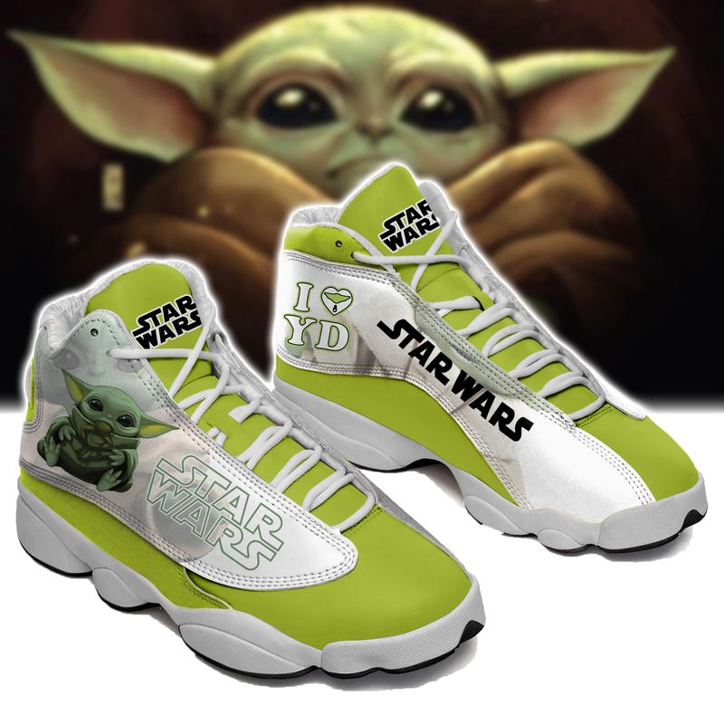 BABY YODA From STAR Wars Form AIR Jordan 13 Sneakers