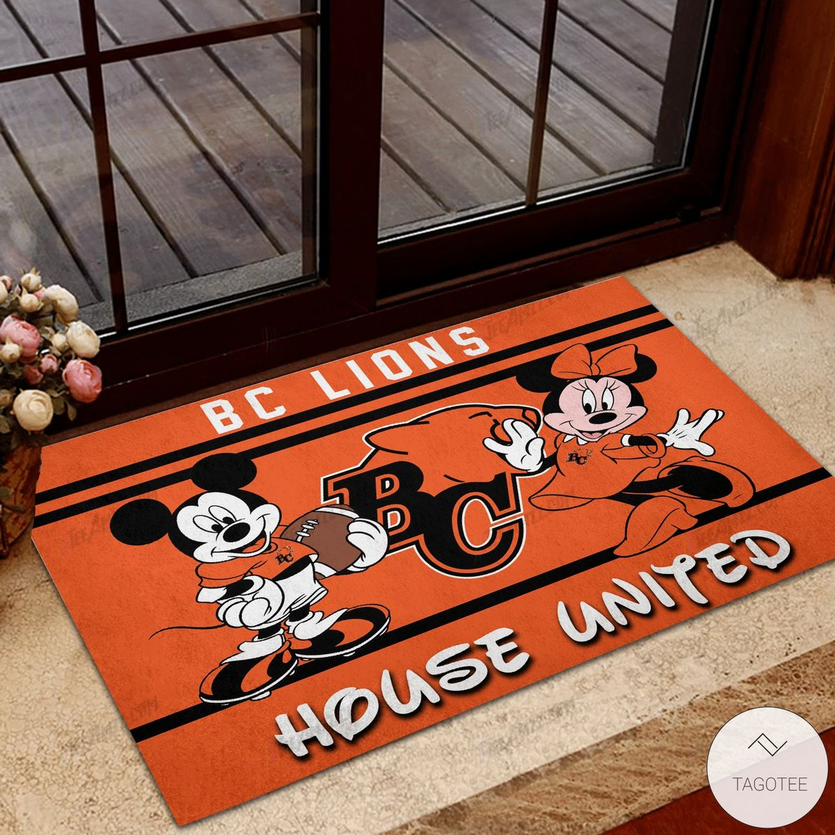 BC Lions House United Mickey Mouse And Minnie Mouse Doormat