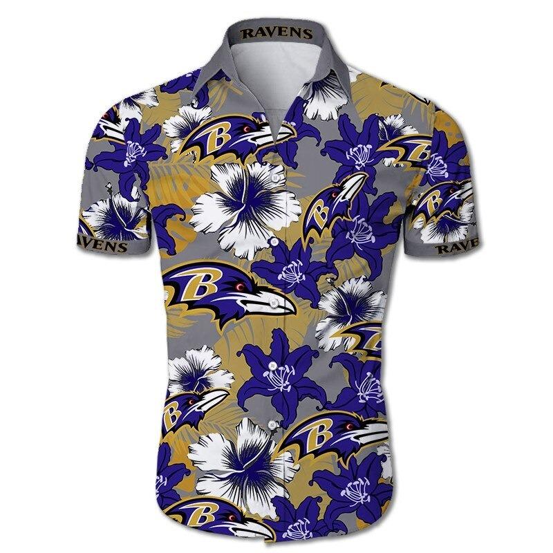 Baltimore Ravens NFL Floral Hawaiian Shirt
