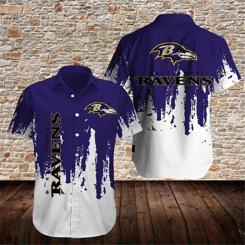 Baltimore Ravens NFL Grafiti Hawaiian Shirt 1