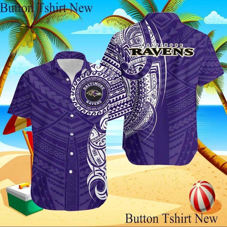 Baltimore Ravens NFL Hawaiian Shirt M3