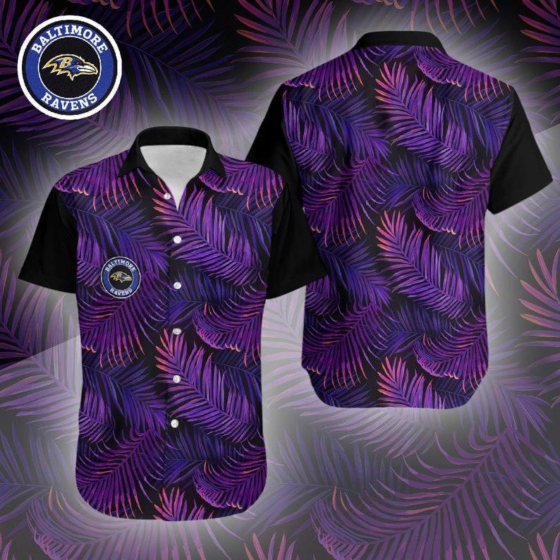 Baltimore Ravens NFL Hawaiian Shirt M5