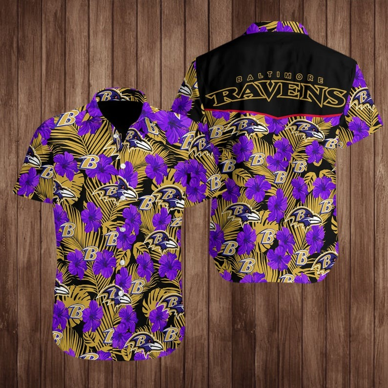 Baltimore Ravens NFL Hawaiian Shirt M7