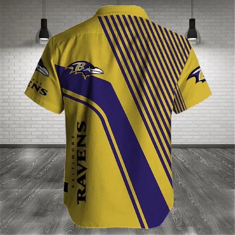 Baltimore Ravens NFL Shirt Cross Hawaiian Shirt 1