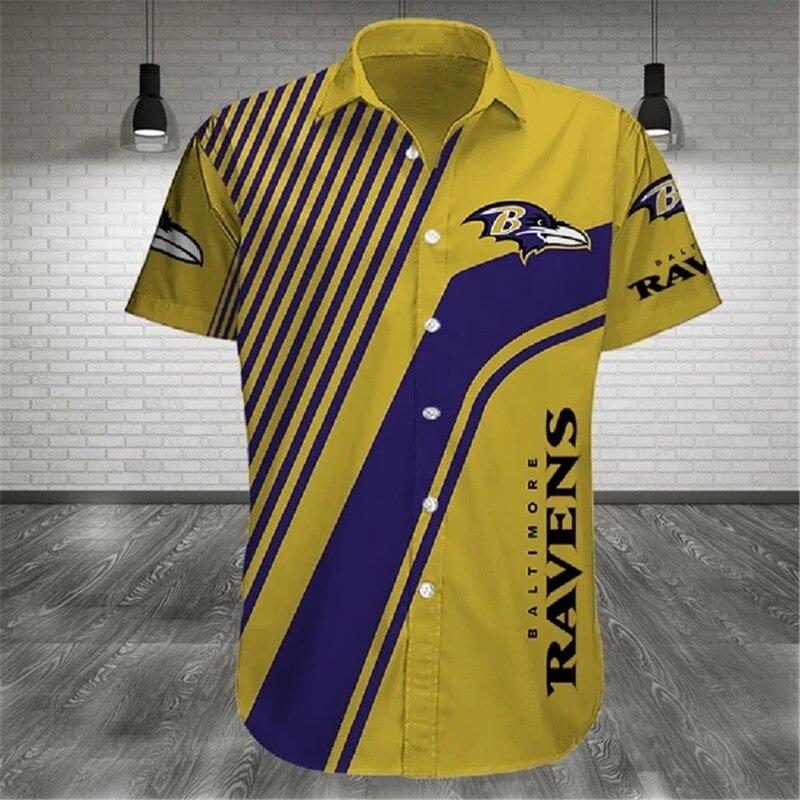 Baltimore Ravens NFL Shirt Cross Hawaiian Shirt