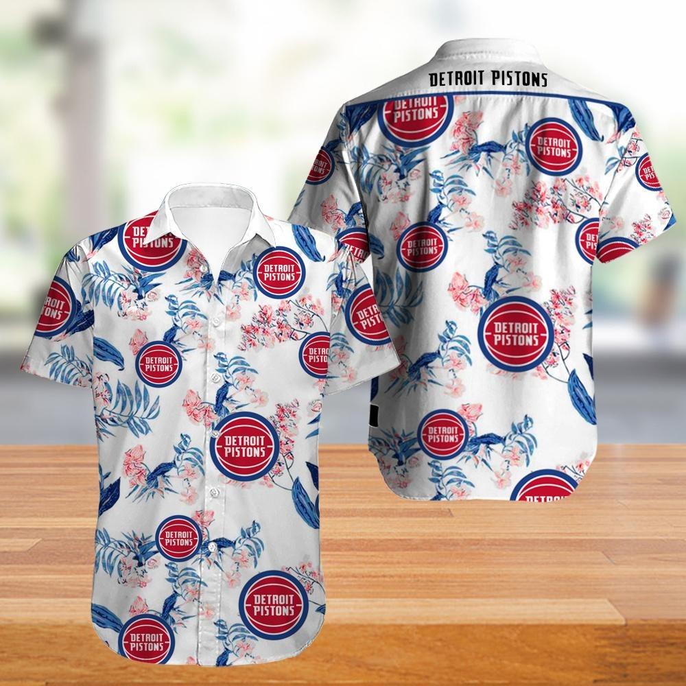 Detroit Pistons NBA Hawaiian Shirt