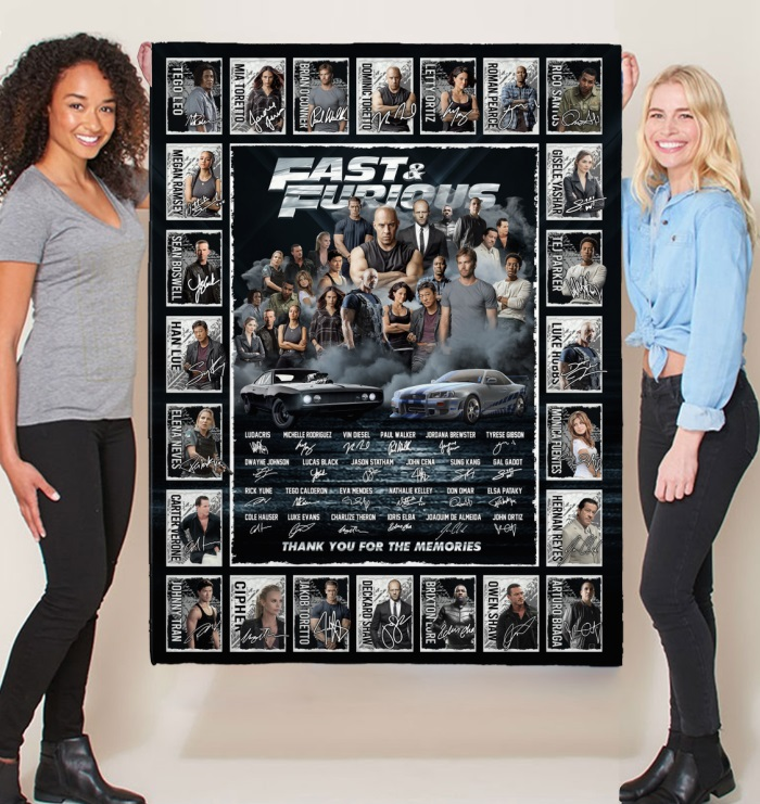 Fast and furious signature thank you for the memories blanket
