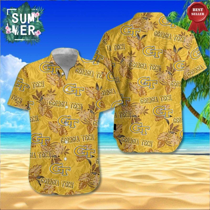 Georgia Tech Yellow Jackets NCAA Hawaiian Shirt