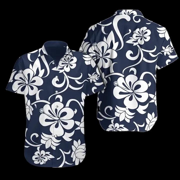 Hawkeye Pierce from MASH Hibiscus Hawaiian Shirt Beach Shorts