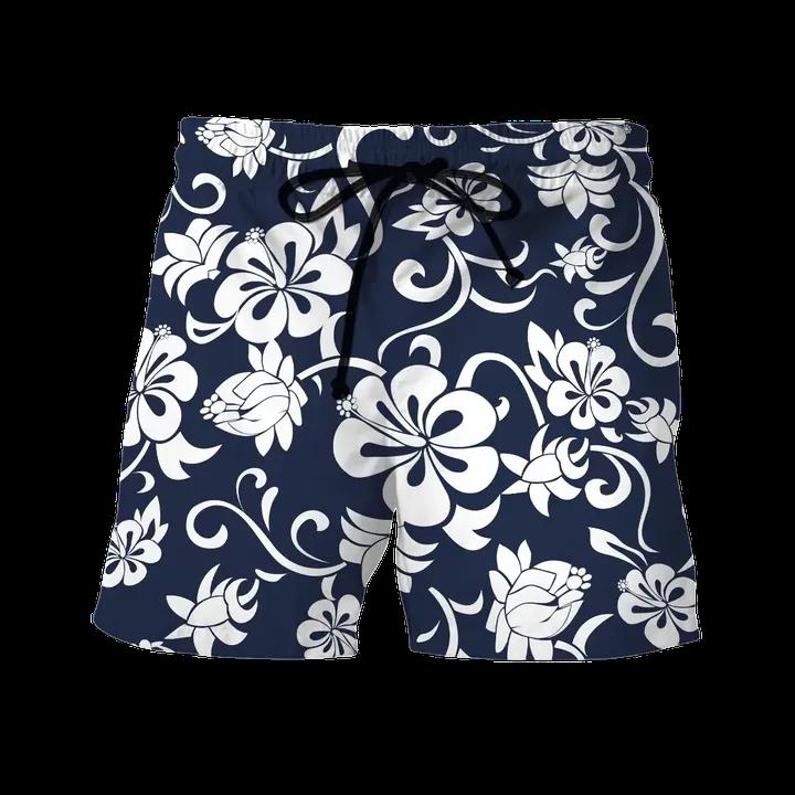 Hawkeye Pierce from MASH Hibiscus Hawaiian Shirt Beach Shortsz