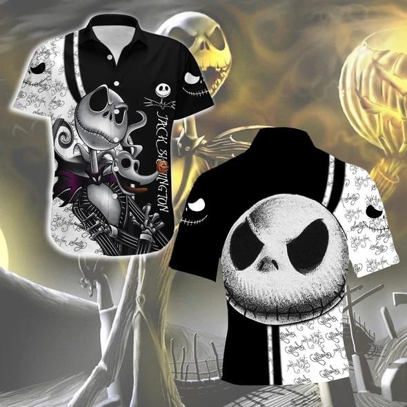 Jack skellington Nightmare Before Christmas 3D Hawaiian Shirt