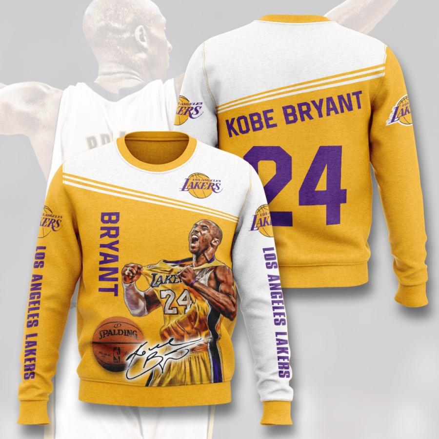KB24 Kobe Bryant NBA Los Angeles Lakers 3D Long Sleeve