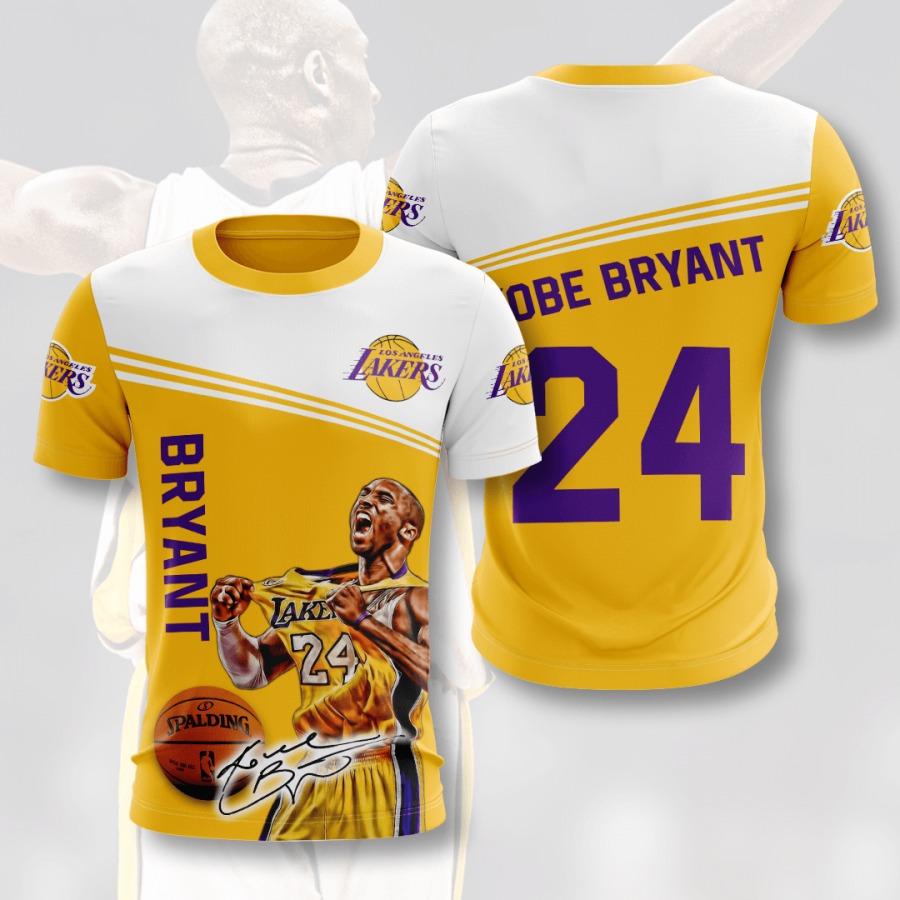 KB24 Kobe Bryant NBA Los Angeles Lakers 3D T Shirt