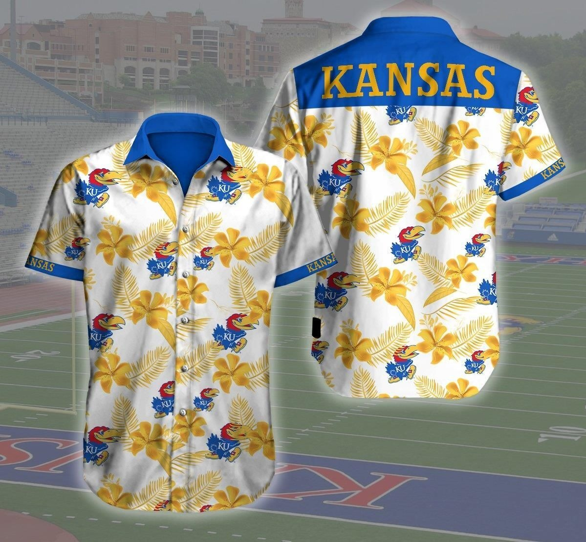 Kansas Jayhawks NCAA Hawaiian Shirt