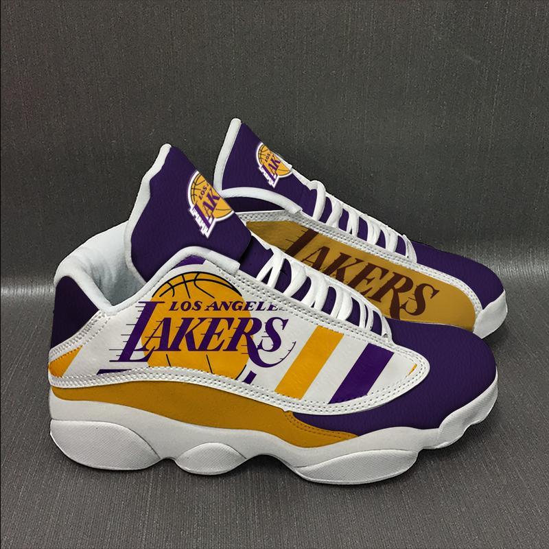 Los Angeles Lakers basketball team Form AIR Jordan 13 Sneakers
