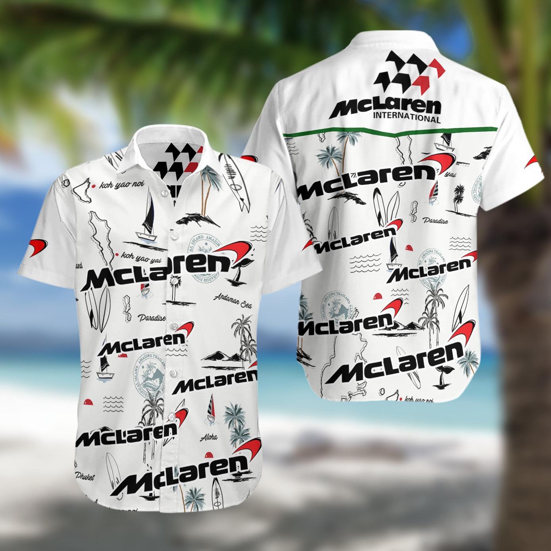 Mc Laren racing f1 hawaiian shirt