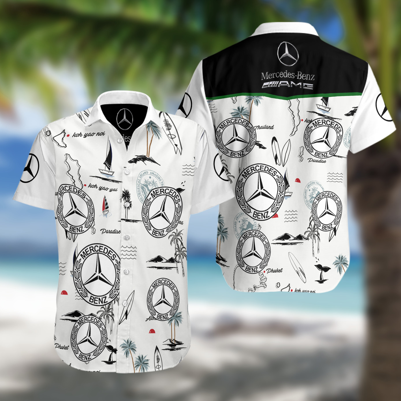 Mercedes AMG F1 Hawaiian Shirt